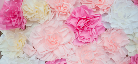 Бумажные цветы из креповой бумаги