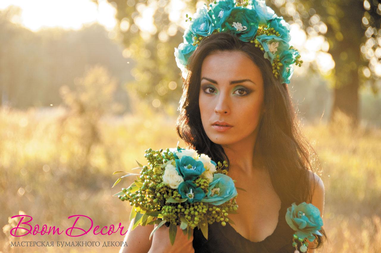 Цветы из тишью 049