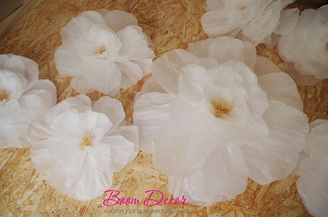 Цветы из тишью 011