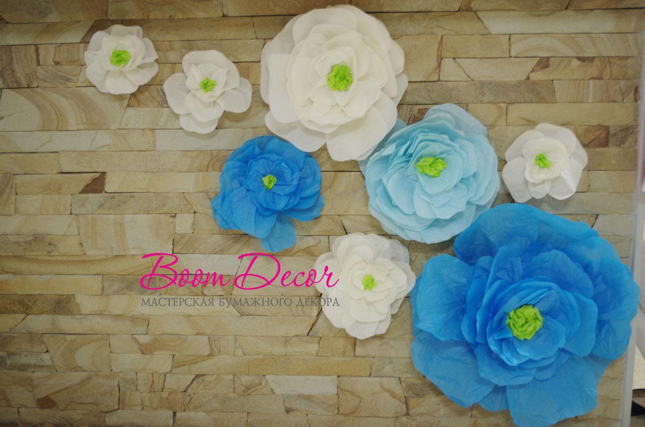 Цветы из тишью 023