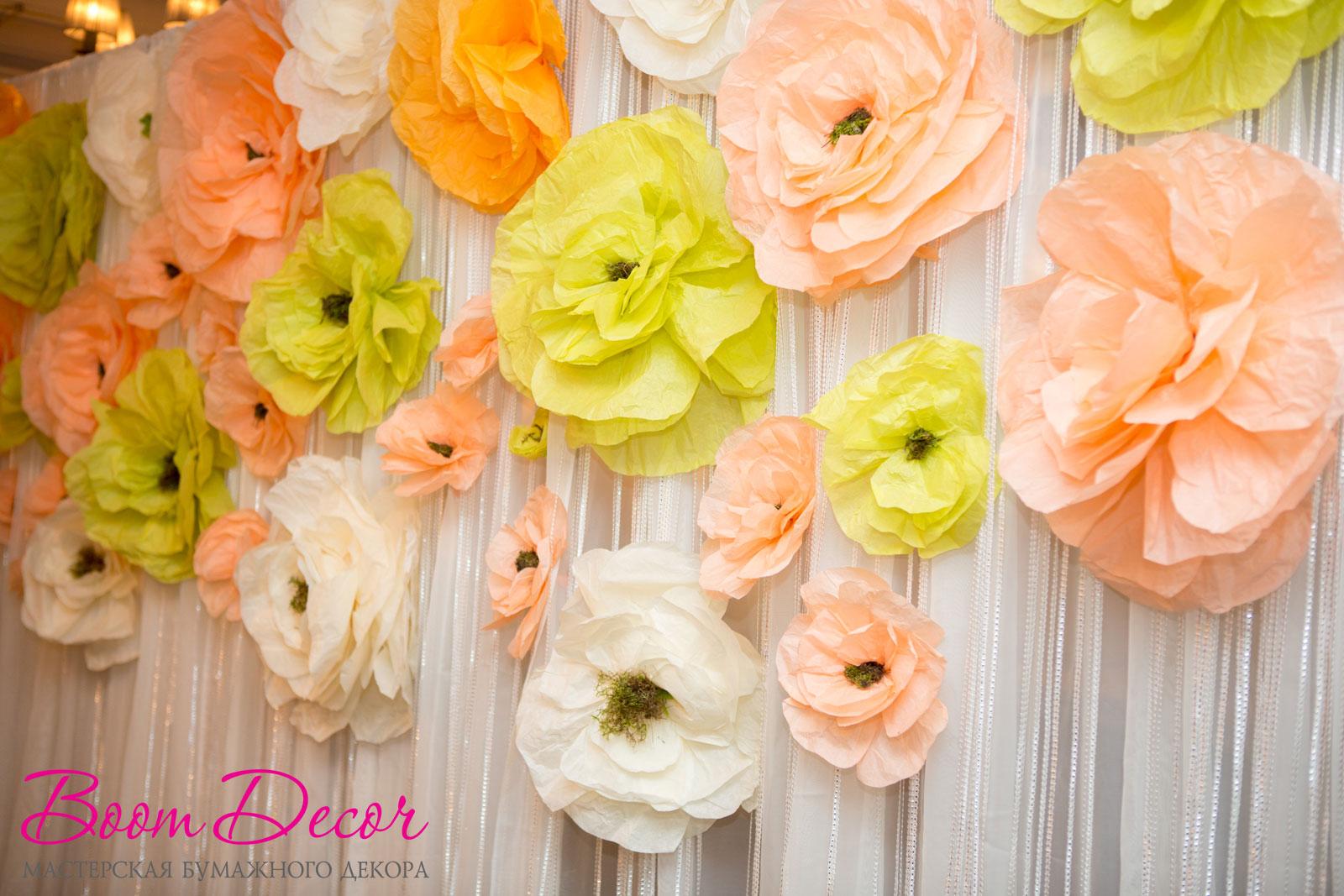 Цветы из тишью 034