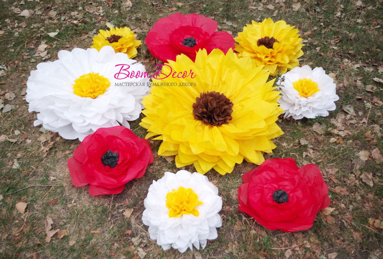 Цветы из тишью 038