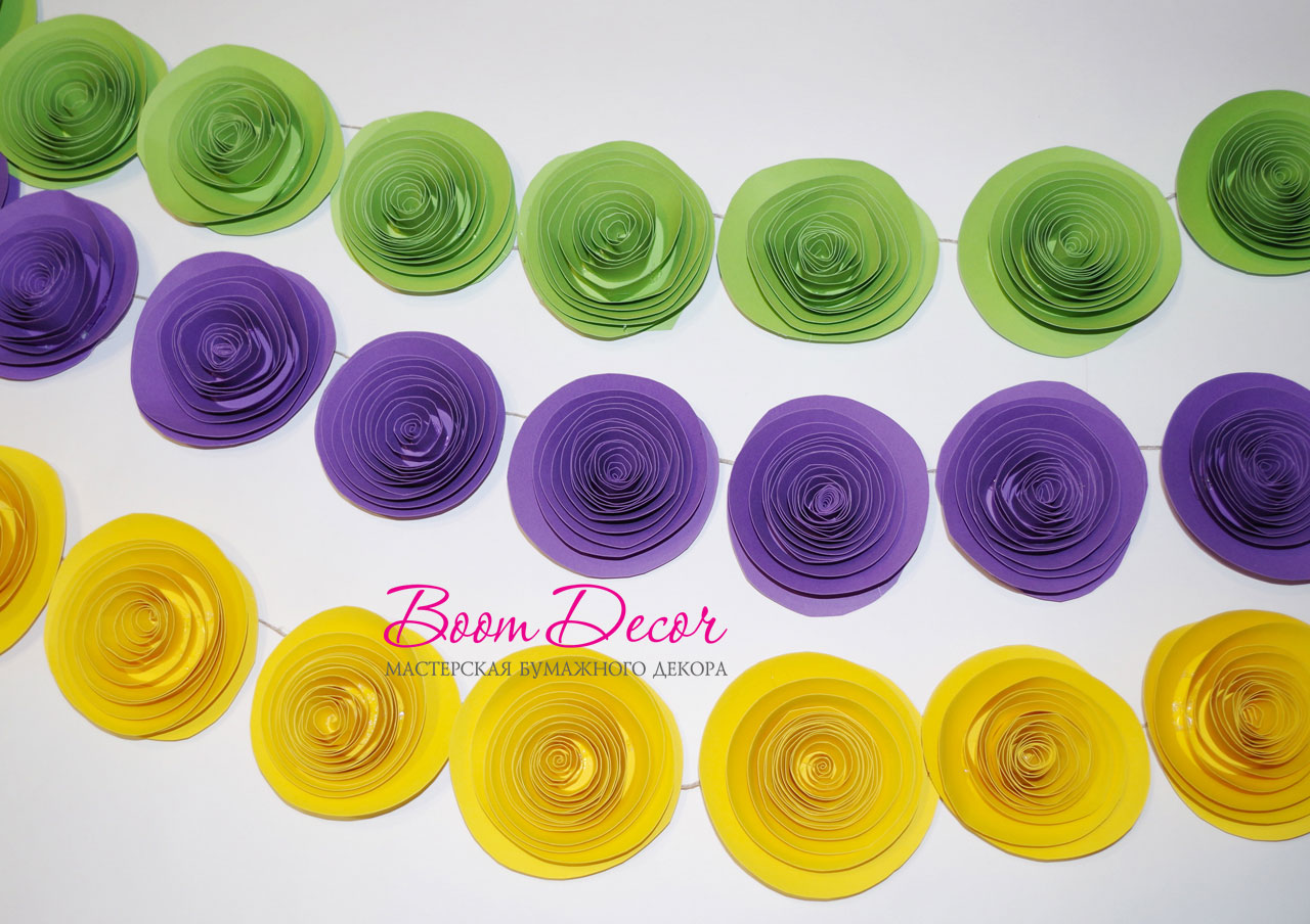 Спиральные цветы 020