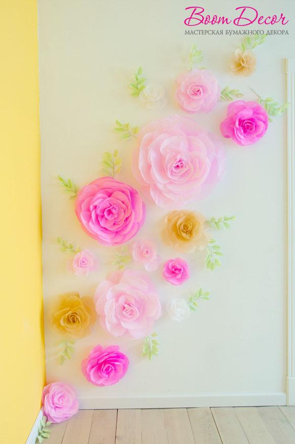 Цветы из тишью 005