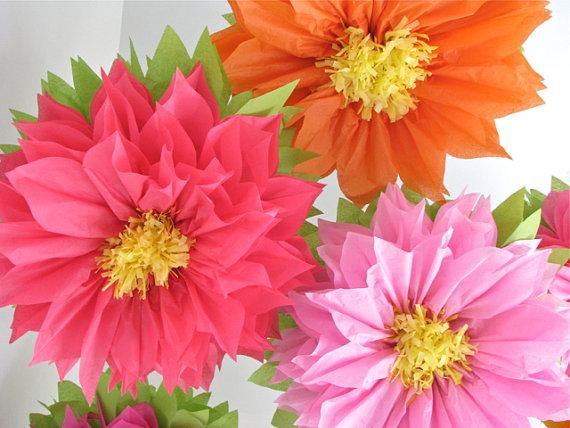 Цветы из тишью 006
