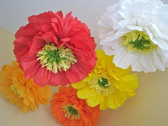 Цветы из тишью 008