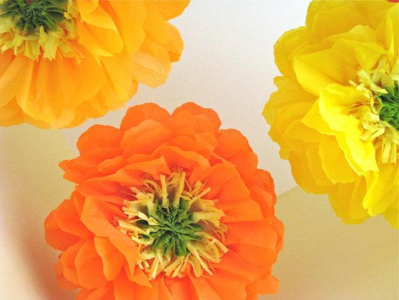 Цветы из тишью 009
