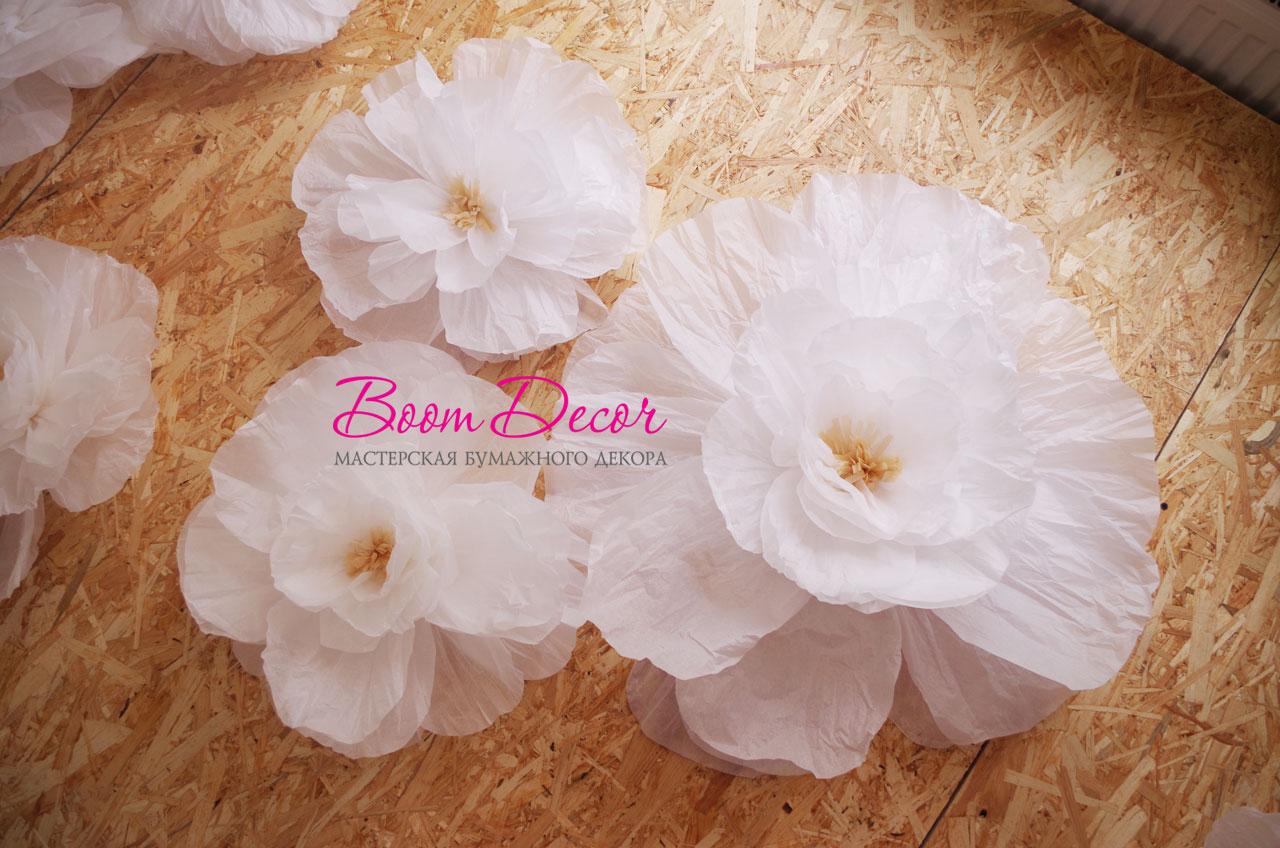 Цветы из тишью 012