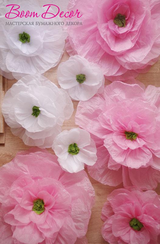 Цветы из тишью 015