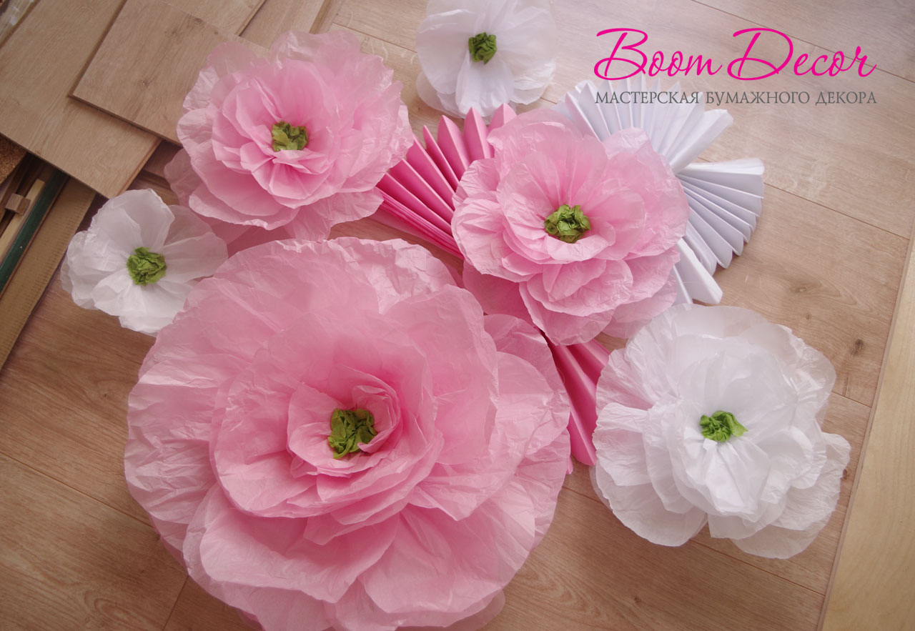 Цветы из тишью 017