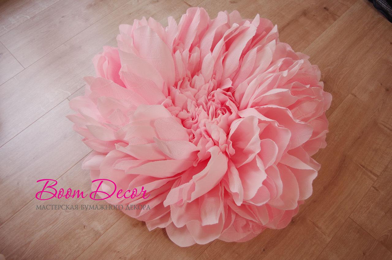 Цветы из креп-бумаги 009