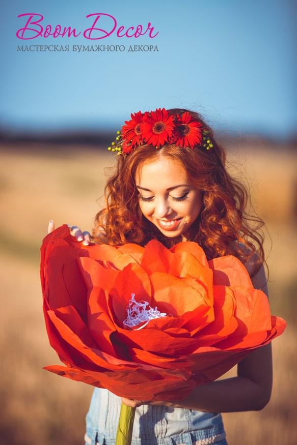 Цветы из тишью 028