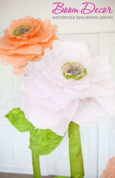 Цветы из тишью 031