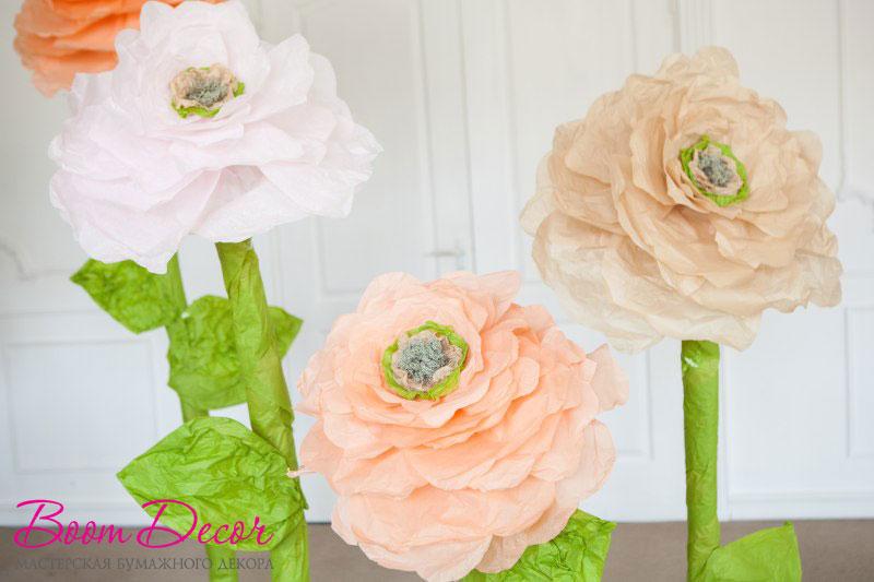 Цветы из тишью 033