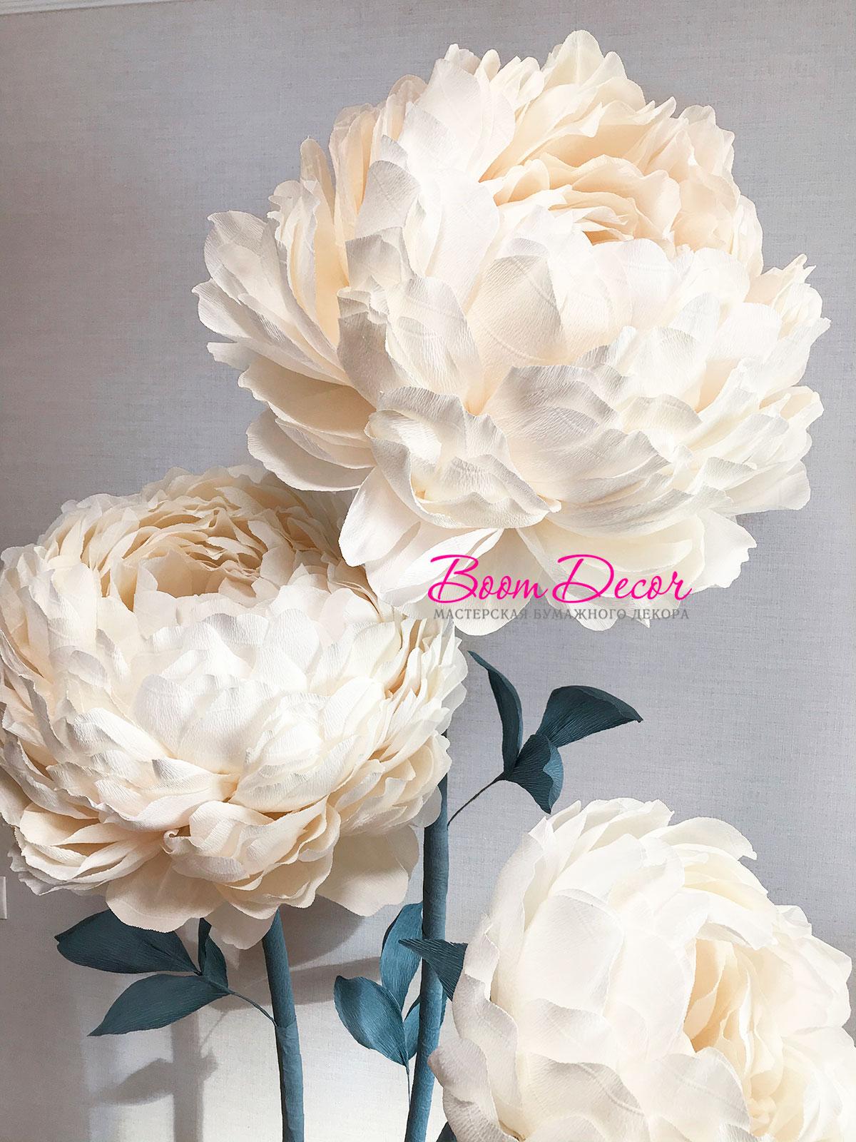 Цветы из креп-бумаги 001