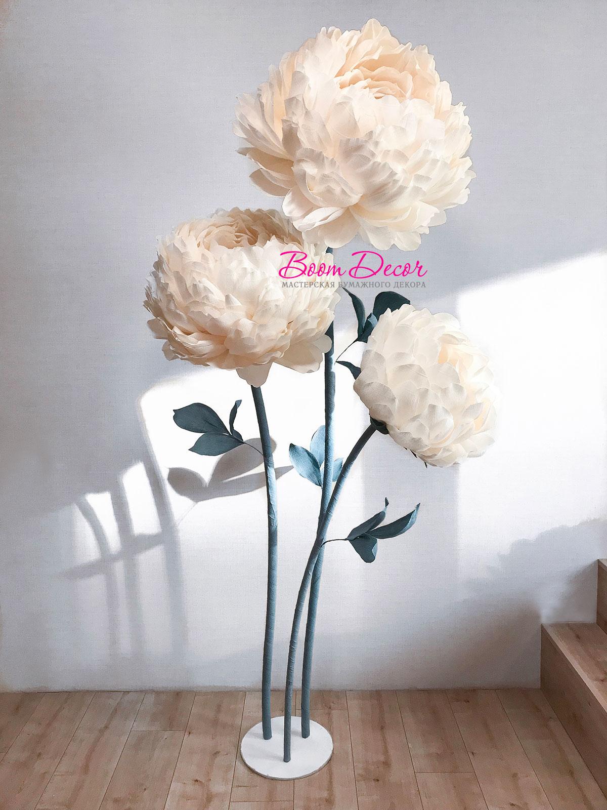 Цветы из креп-бумаги 002