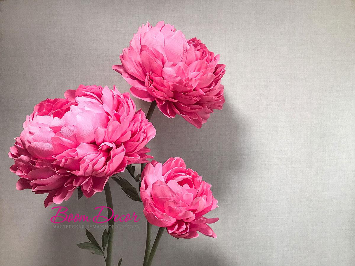 Цветы из креп-бумаги 014