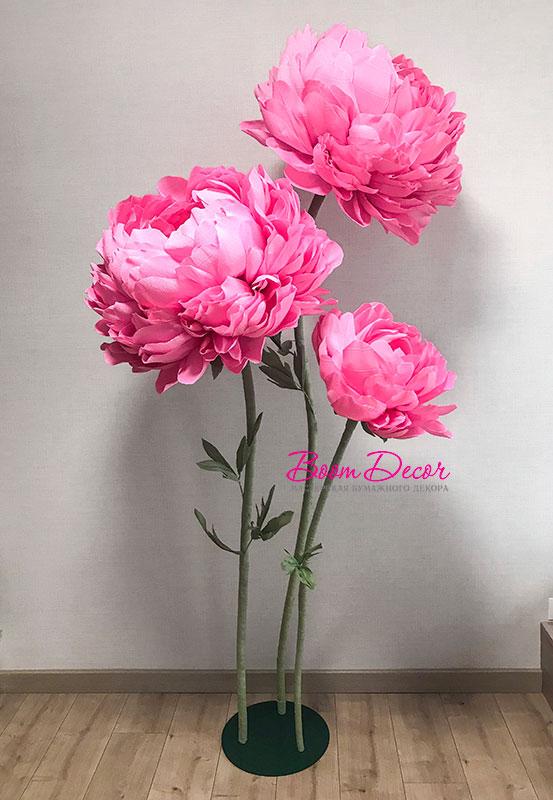 Цветы из креп-бумаги 013