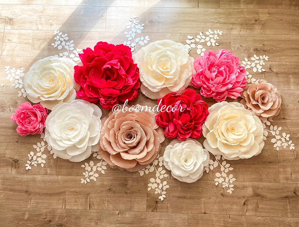 Цветы из креп-бумаги 042