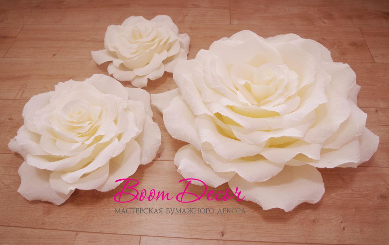 Цветы из креп-бумаги 006