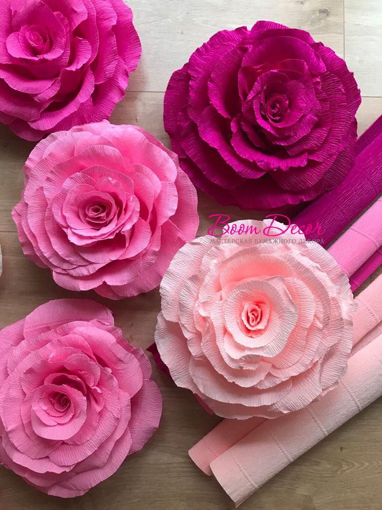 Цветы из креп-бумаги 026