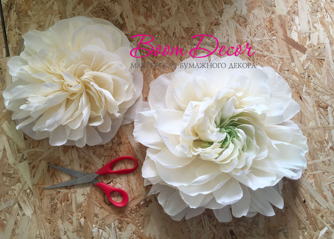 Цветы из креп-бумаги 004