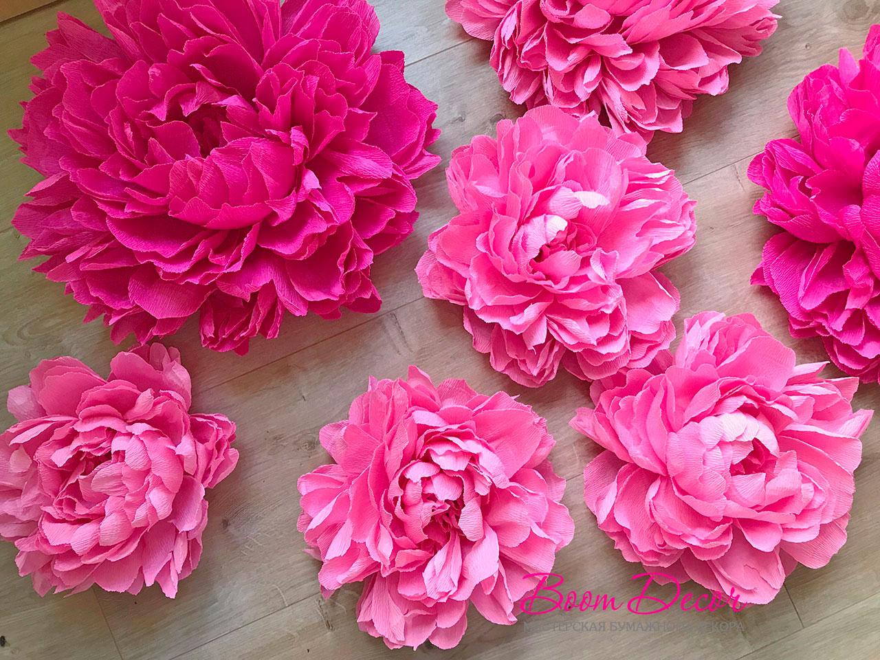 Цветы из креп-бумаги 012