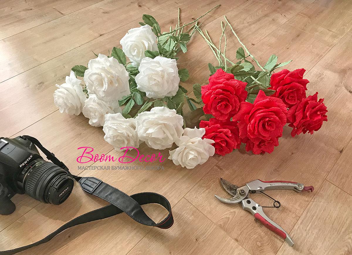 Цветы из креп-бумаги 021