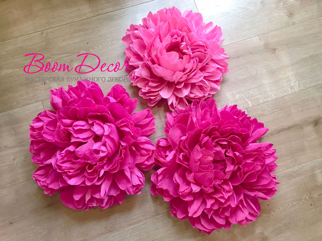Цветы из креп-бумаги 011